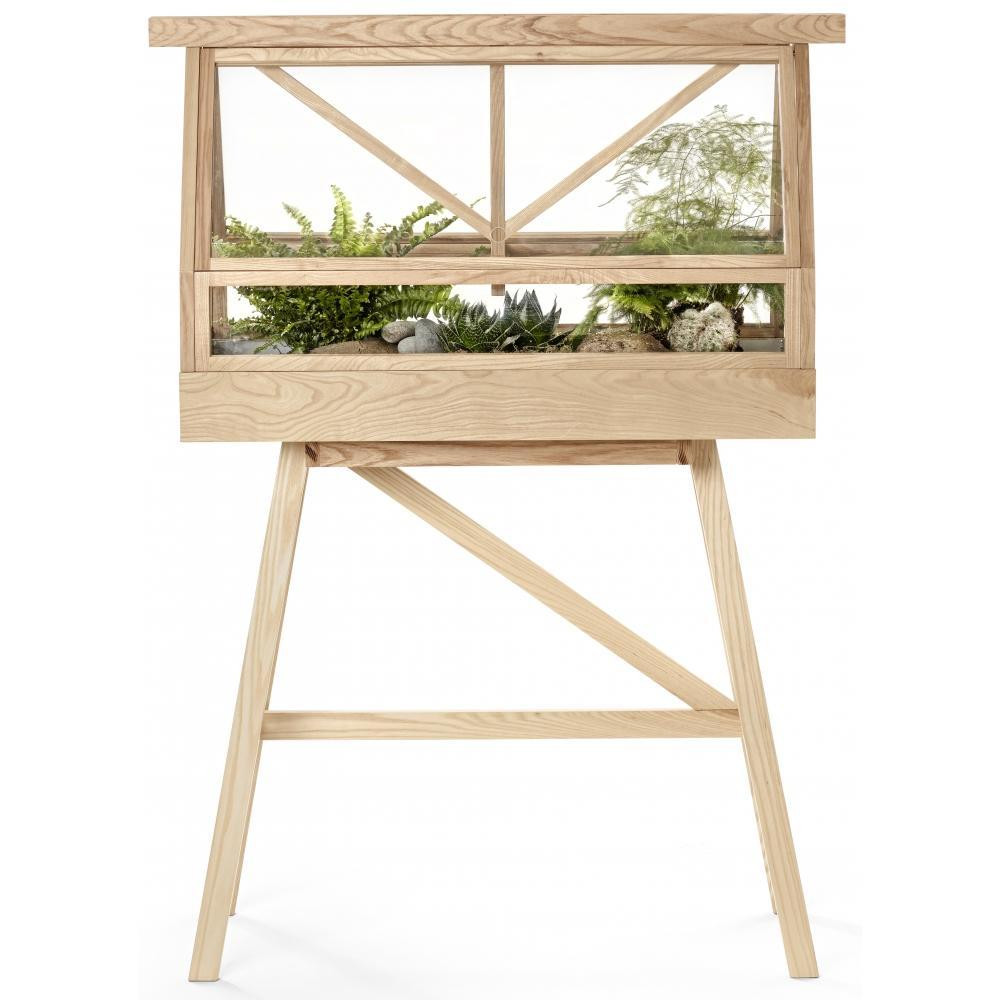 A room within a room for nature! Designed by Bankok duo Atelier 2+ for Swedish brand Design House Stockholm, the innovative Greenhouse is small enough for indoor use but large enough to house a miniature garden. A design object with artistic ambitions, straddling the boundary between art and design.  Materials: Lacquered solid ash, panes of tempered safety glass, planting tray made of galvanised steel.