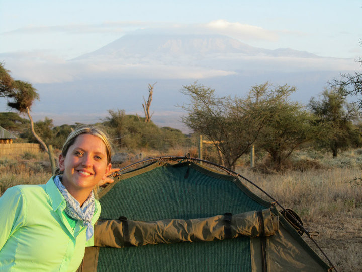Kilimanjaro looms in the background