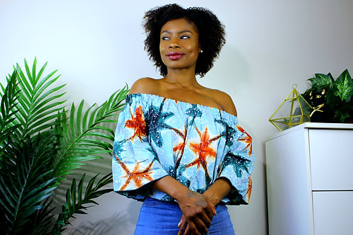 Off-Shoulder Ankara Top #2