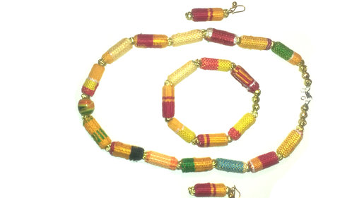 Kente Necklace Set 4