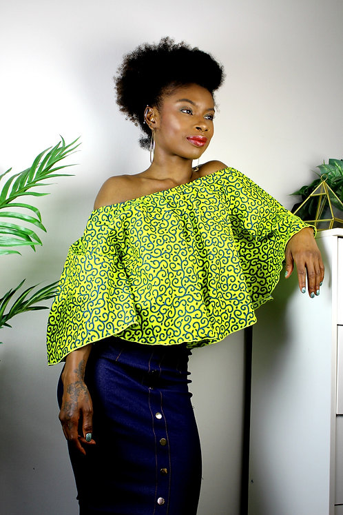 Off-Shoulder Ankara Top #6