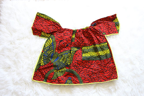 Off-Shoulder Ankara Top #23