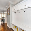 The Zoe features beautiful cabinetry and hooks perfect for school jackets and backpacks.