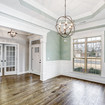 Dining Room with beautiful trim work in The Dorothy
