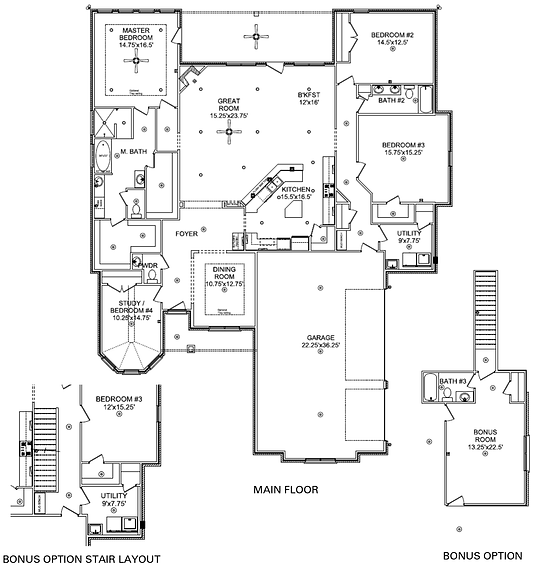 The Bethany w/ bonus, a Stoneridge Homes floorplan