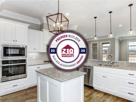 Stoneridge Homes is Recognized with a Premier Builder Award for 2020.