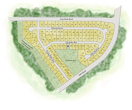 The Willows at Sanctuary Cove Site Map a Stoneridge Homes community