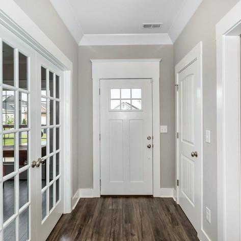 The Clover's beautiful front door.