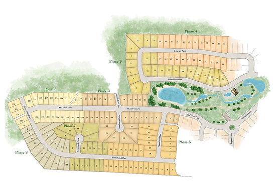 MidTowne on the Park Site Map a Stoneridge Homes Community