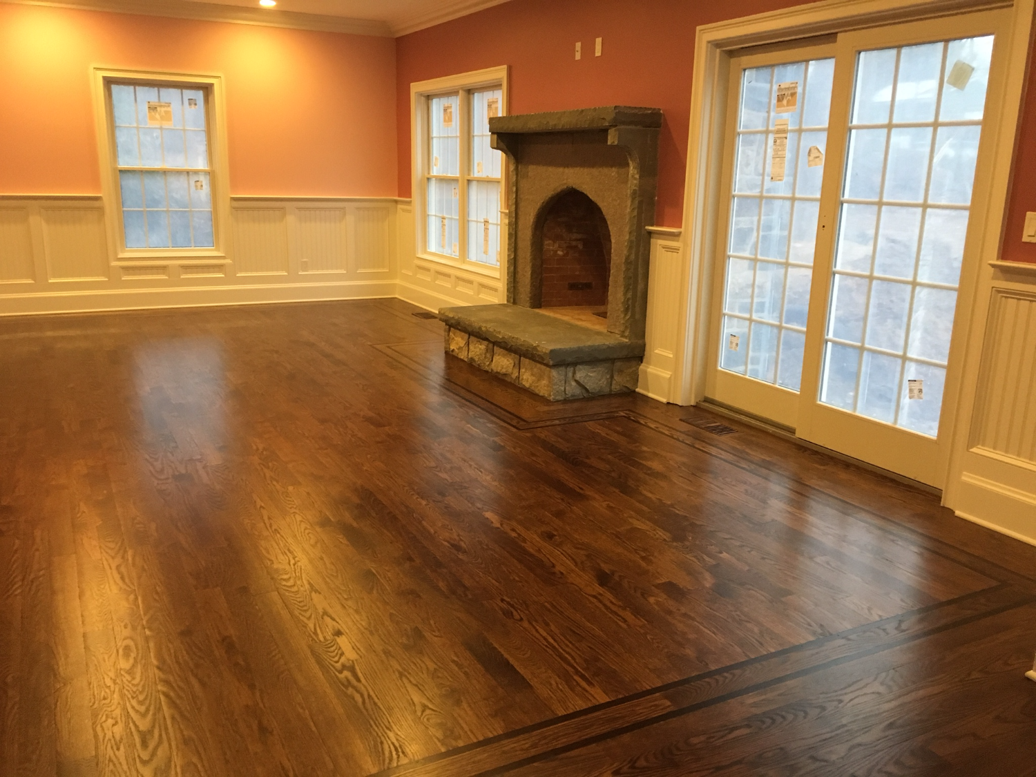 Beautiful Project Using Provincial Stain Color R V Wood Floors Floor Refinishing In Connecticut