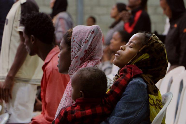 Ethiopian Christians Praying