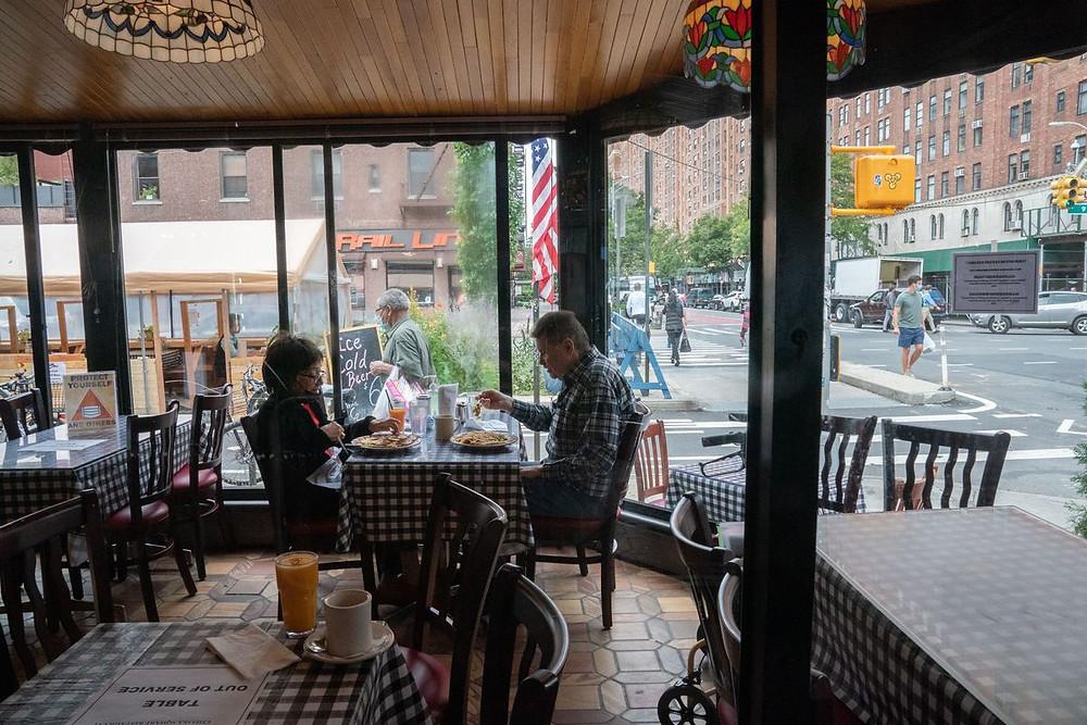 COVID19: New York City bans restaurant indoor dining.