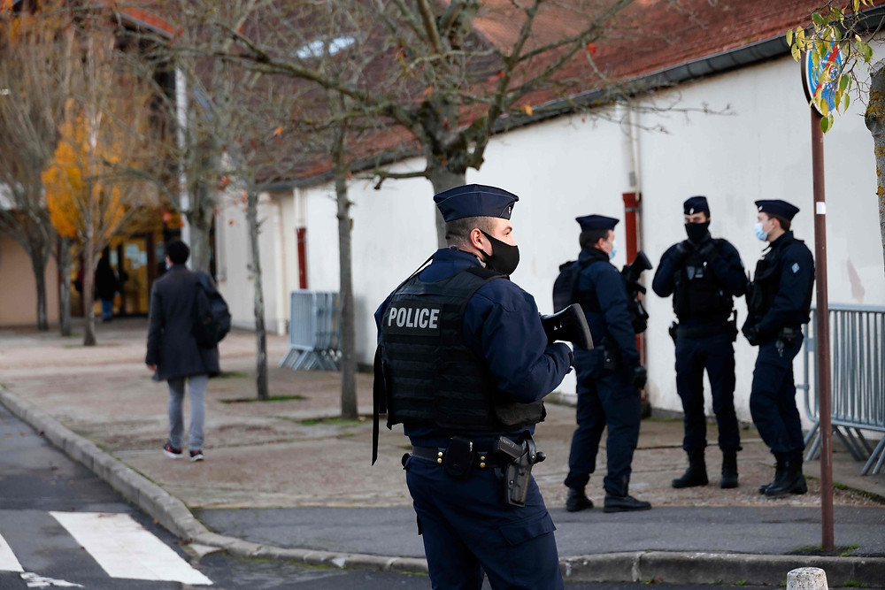 Three French police officers were shot dead by a man when they arrived at a home in a remote village in central France