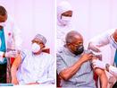 President Buhari and VP take COVID19 vaccine on liveTV.