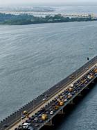 7 months later ; third mainland bridge is finally open
