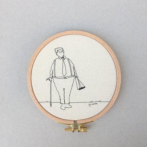 sewn sketch hoop14cm - man