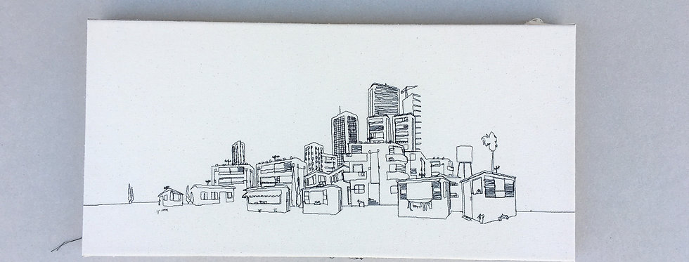 Sewn sketch 50/24cm - tel Aviv  view