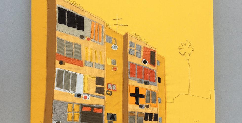 patchwork 50/50cm - yellow, 4 hess st.