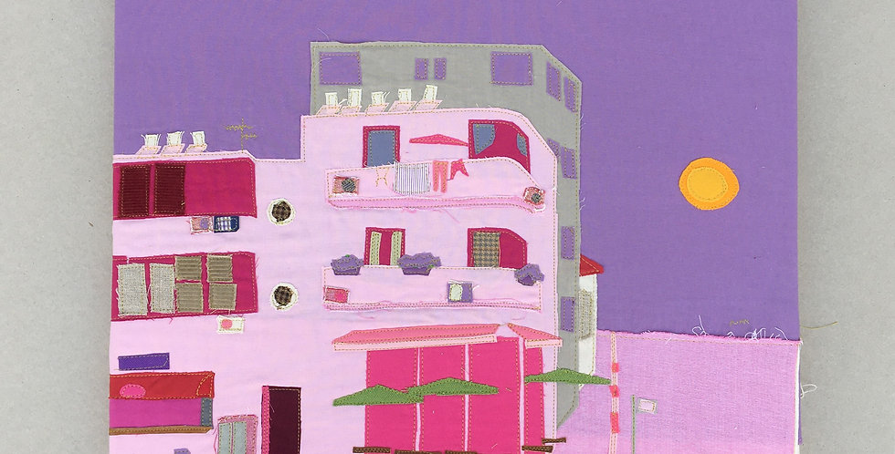 patchwork - pink, telaviv building
