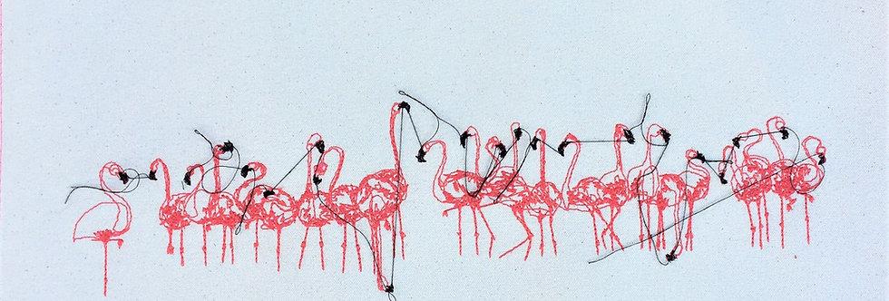 sewn sketch 25/50cm - flaming flock