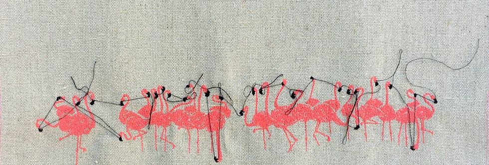 sewn sketch 25/50cm - flamingo flock