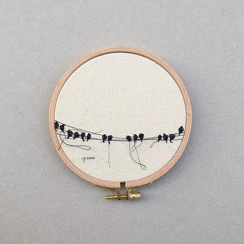 sewnsketch hoop14cm - birds on wire