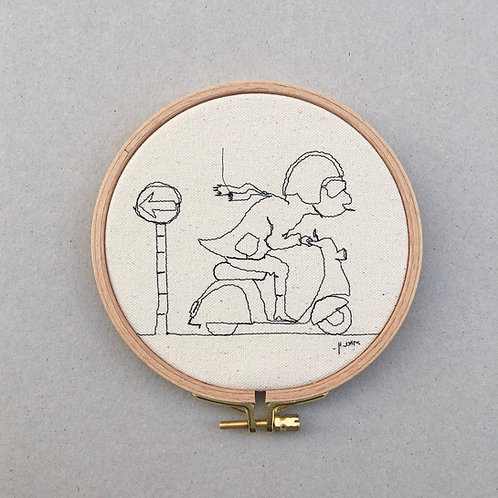 sewn sketch hoop14cm - scooter guy