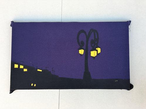 patchwork 75/42cm - lightpost at night