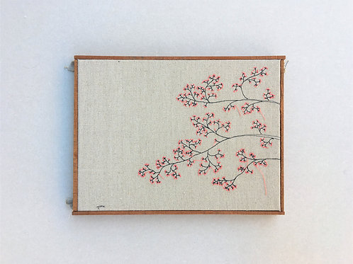 sewn sketch 42/31cm - pink tree branch