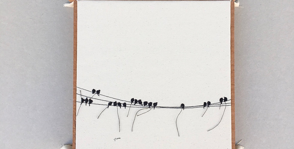 sewn sketch 30/30 - birds on a wire.