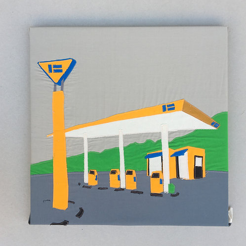patchwork 50/50 - gas station
