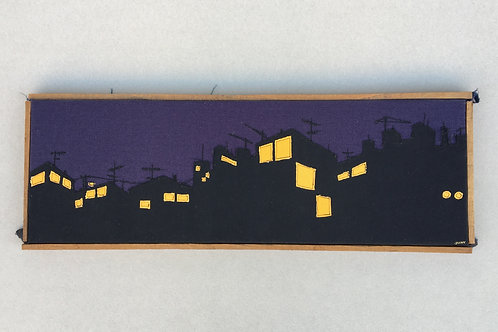 patchwork 65/23cm - night cityscape