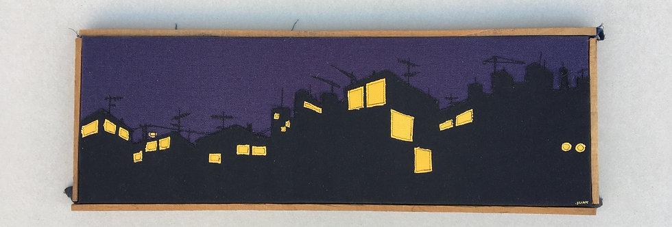 patchwork 65/23cm - night cityscape