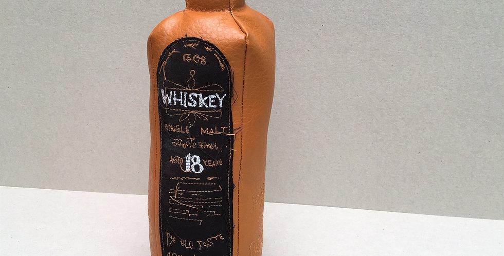 plush whiskey bottle - synthetic leather