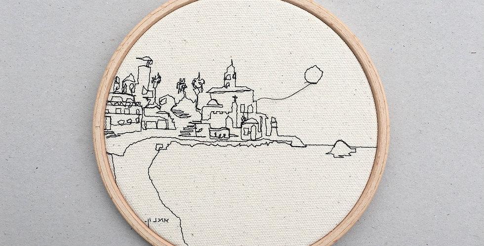 sewn sketch hoop14cm - jaffa