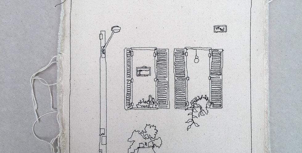 sewn sketch 22/22cm- nevve tsedek windows