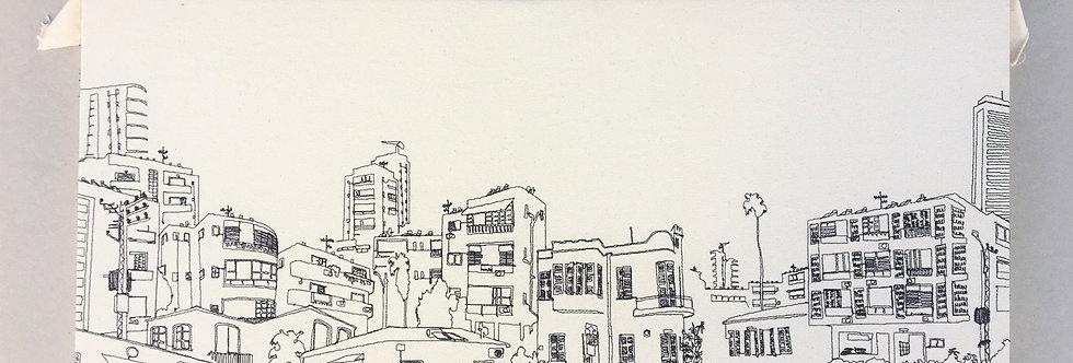 sewn sketch 80/35cm
