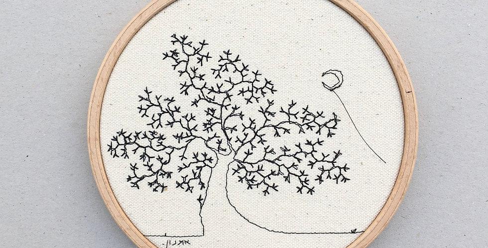 sewn sketch hoop14cm - tree