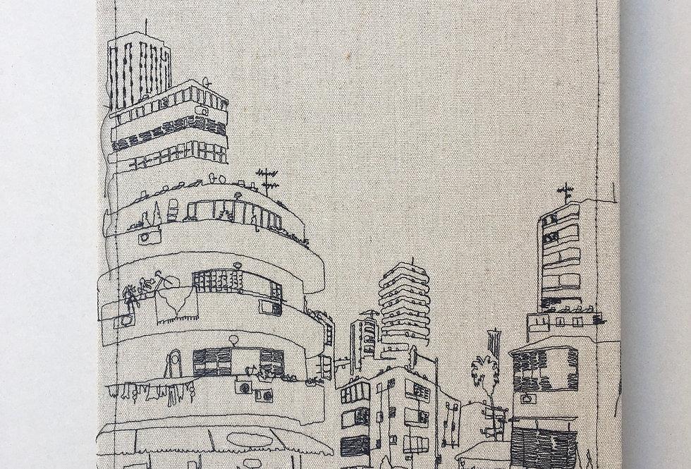 sewn sketch 60/44cm - telaviv view