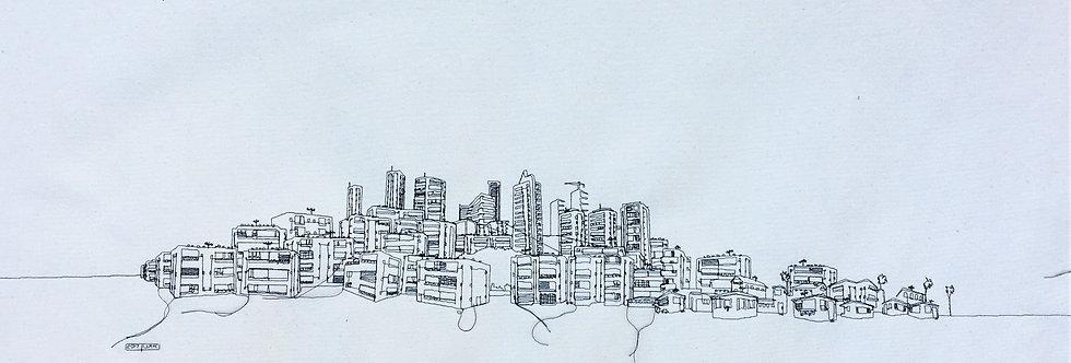 sewn sketch 100/40cm - telaviv
