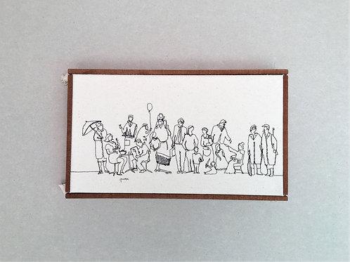 sewn sketch 30/17cm - people