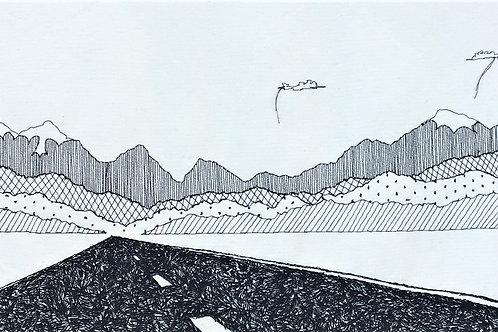 sewn sketch 100/37cm - roadtrip