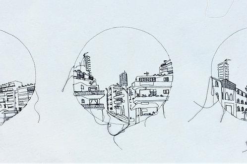 sewn sketch 120/40cm - 3 holes