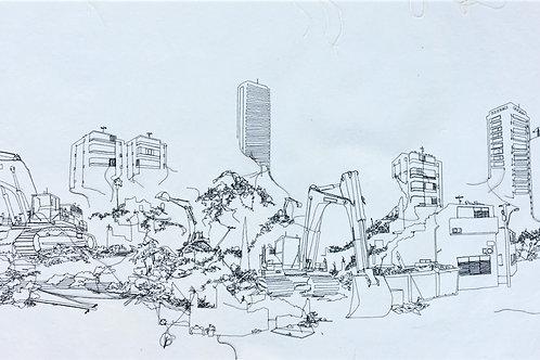 sewn sketch 144/66cm