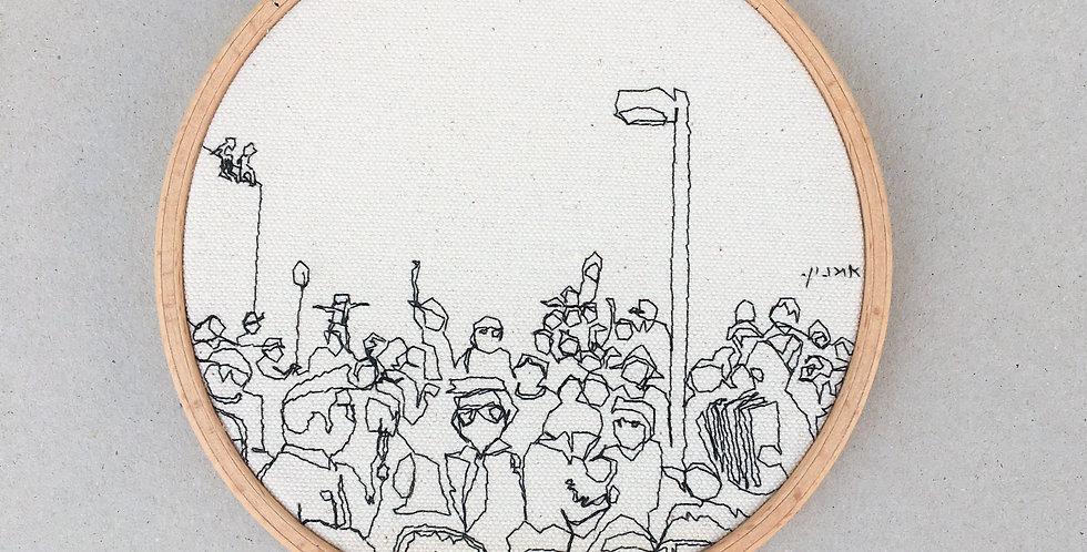 sewnsketch hoop14cm - crowed