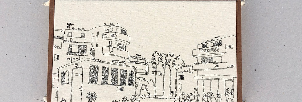 Sewn sketch 31/18cm - tel Aviv  view