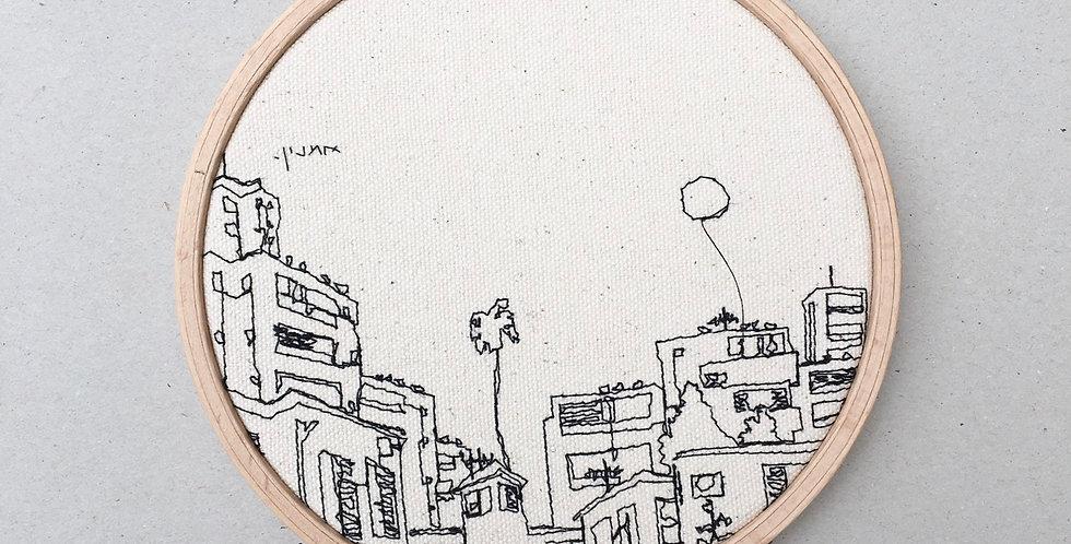sewn sketch hoop14cm - tel aviv view