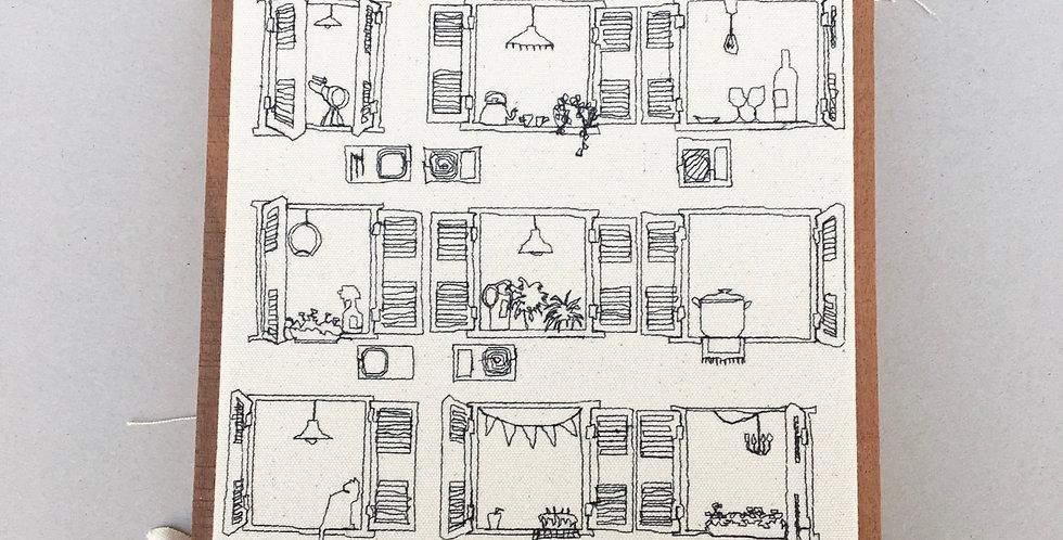 sewn sketch 22/22cm 9-windows