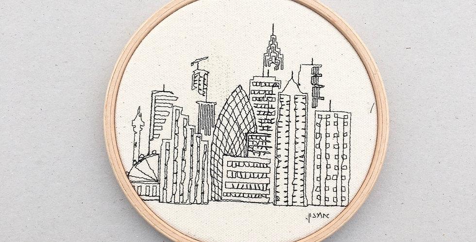 sewnsketch hoop14cm - skyscraper city