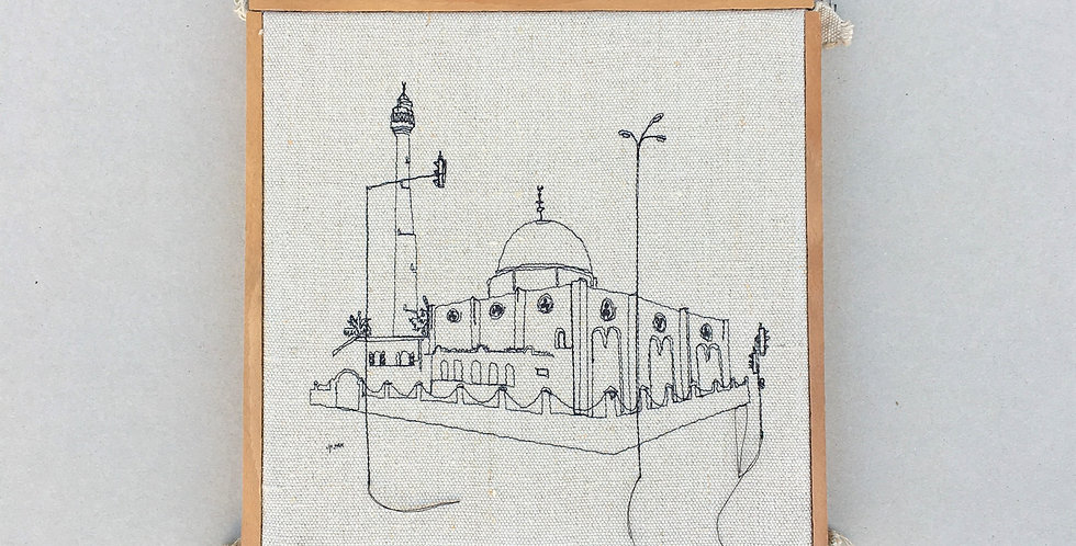 sewn sketch 28/28cm - hassan beck mosque